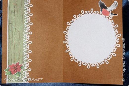Здравствуй,Страна Мастеров! У меня рождественские открытки с рамочками. фото 3