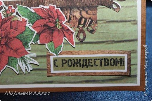 Здравствуй,Страна Мастеров! У меня рождественские открытки с рамочками. фото 7