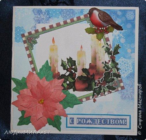 Здравствуй,Страна Мастеров! У меня рождественские открытки с рамочками. фото 9