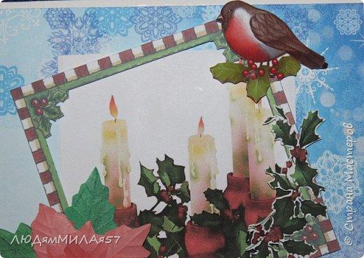 Здравствуй,Страна Мастеров! У меня рождественские открытки с рамочками. фото 15