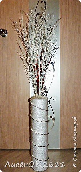 Наконец то моя ваза  готова. Она идеально будет сочетаться с моим камином..=) фото 3
