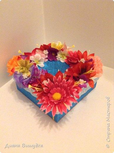 Еще весной сделала коробочки и получились они очень цветочными =)  Этот вариант побольше... фото 1
