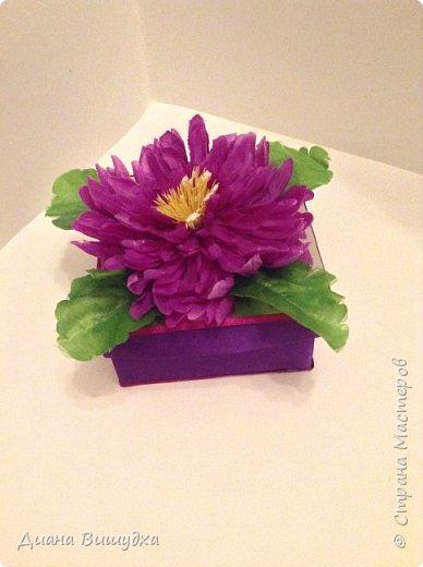 Еще весной сделала коробочки и получились они очень цветочными =)  Этот вариант побольше... фото 2