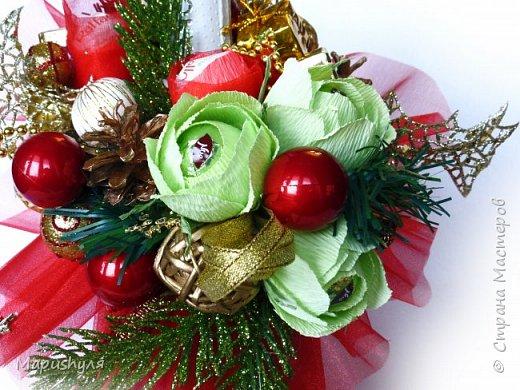 Здравствуйте, дорогие жители Страны! Сегодня хочу показать работы к Новому году. Начну, пожалуй, с бутылочки новогоднего напитка. фото 3