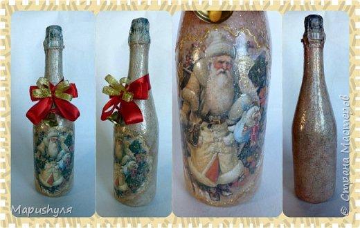 Здравствуйте, дорогие жители Страны! Сегодня хочу показать работы к Новому году. Начну, пожалуй, с бутылочки новогоднего напитка. фото 21