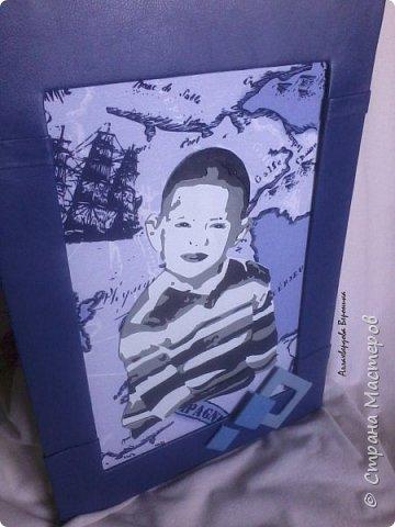 Вот и готова еще одна картина на заказ)) Портрет был выполнен с некоторыми изменениями, улыбку по просьбе пришлось убрать)) фото 3