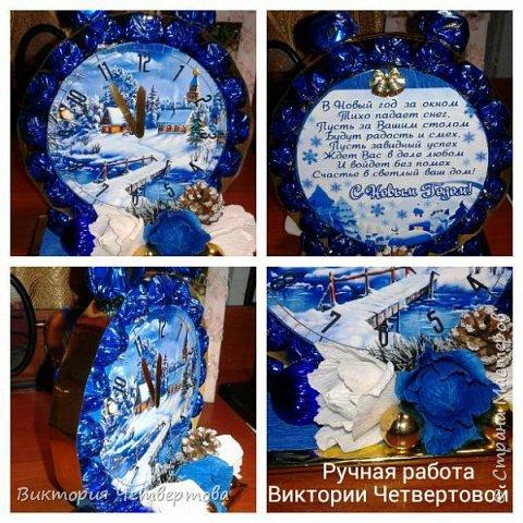 Новогодние часы с конфетами √2. фото 3