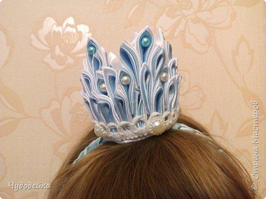 Моя мечта осуществилась, сделала дочке корону для костюма снежной королевы фото 3