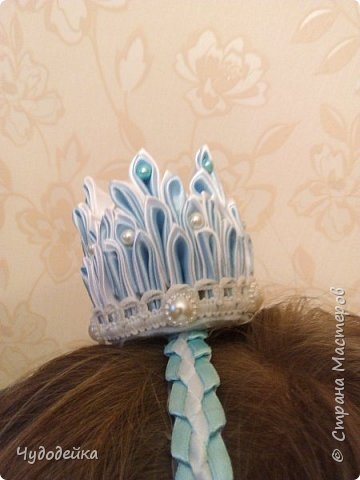 Моя мечта осуществилась, сделала дочке корону для костюма снежной королевы фото 2
