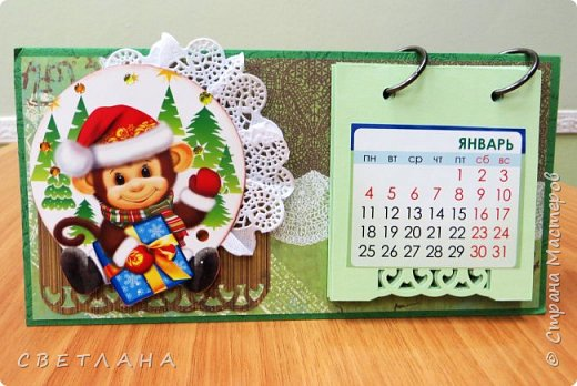 Добрый  день, страна!   Сегодня  я  с  новыми  настольными  календарями,  подарками  к  НГ.  Покажу  некоторые  из  них,  многие  уже  разошлись ,  народ  запасается  подарочками  друзьям и коллегам  к  новому  году...  Вот  этот  мне  очень  нравится,  наверное  оставлю  себе, любимой... фото 16