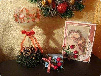 """Добрый вечер!!! Хочу Вам показать мои работы, которые я делала для игры """"Рождество приходит в дом"""". Посылочка уже получена, так что смотрите... фото 1"""