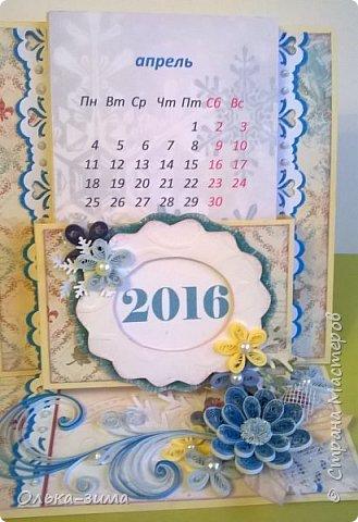 Добрый день жители страны. С наступающим Новым годом!  Сегодня хочу показать вам календарики, которые сделала для учителей, к  празднику.  Время мчит неуловимо, За окном уже зима, Новогодние картины Приготовлены с утра. В Новый год стремимся к чуду, Пусть их дарит Дед Мороз, Пусть мечты сбываться будут, Нереальные, всерьёз!  фото 1