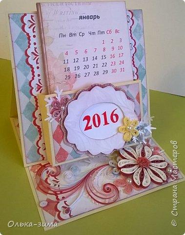 Добрый день жители страны. С наступающим Новым годом!  Сегодня хочу показать вам календарики, которые сделала для учителей, к  празднику.  Время мчит неуловимо, За окном уже зима, Новогодние картины Приготовлены с утра. В Новый год стремимся к чуду, Пусть их дарит Дед Мороз, Пусть мечты сбываться будут, Нереальные, всерьёз!  фото 4