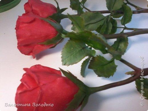 Здравствуйте мастера и мастерицы Страны Мастеров!!!С наступающим Новым годом вас!!Потихоньку осваиваю холодный фарфор.Сегодня у меня красные розы,в тон хозяйке года огненной обезьяны. фото 12