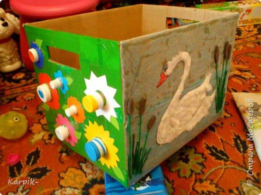 Добрый вечер страна!!! Оформила коробку для дочкиного игрушечного транспорта. фото 5
