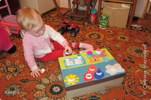 Добрый вечер страна!!! Оформила коробку для дочкиного игрушечного транспорта. фото 3