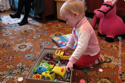 Добрый вечер страна!!! Оформила коробку для дочкиного игрушечного транспорта. фото 4
