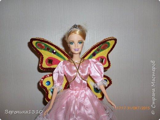 Хочу представить вам мини-МК крыльев для куклы. Дочка увлекается феями вот и решили вместе с ней сделать этот элемент одежды. Скажу, что ребенку 4.5 года поэтому крылья должны выдерживать любые трансформации. Много лазила по СМ и инету, но ничего подходящего и крепкого не встретилось, все больше декоративное, играть таким ребенку в 4 года нельзя. Вот подумала подумала и.. придумала. Если кому пригодится- буду рада. фото 10