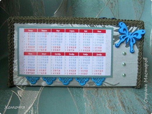 Этот календарь я вышивала целый год - каждый месяц по одной картинке. И вот пришла пора его оформить фото 4