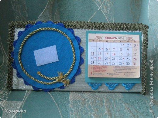 Этот календарь я вышивала целый год - каждый месяц по одной картинке. И вот пришла пора его оформить фото 2