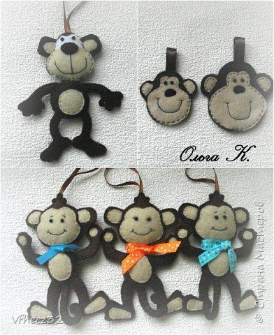 Верхние обезьянки сшиты по картинке из интернета. Нижние обезьянки сшиты по выкройке Оксаны Рожковой. фото 1
