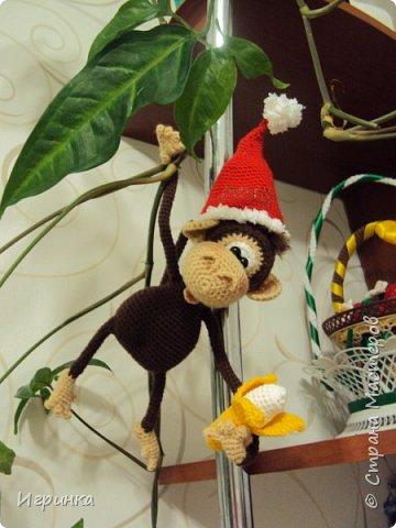 Здравствуйте все! Представляю еще одну обезьянку. Связана она по МК Марагариты Яковлевой. фото 1
