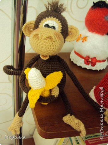 Здравствуйте все! Представляю еще одну обезьянку. Связана она по МК Марагариты Яковлевой. фото 2