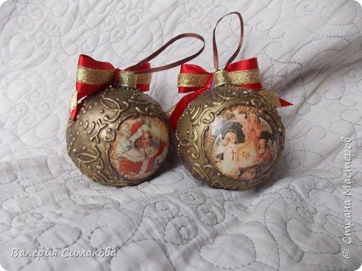 Новогодний наборчик))) большой, красивый))) два медальона (диаметр 12 см), 2 шарика (диаметр 8 см) и звездочка..... фото 3