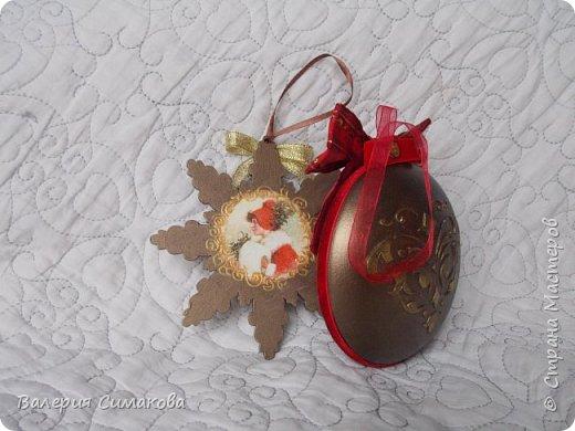 Новогодний наборчик))) большой, красивый))) два медальона (диаметр 12 см), 2 шарика (диаметр 8 см) и звездочка..... фото 8