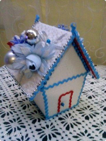 Новогодний теремок для Снеговичка , вдохновляласьу Ирины Рязаночки,спасибо большущее ей за МК. фото 3