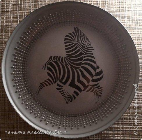 Зебры на серебряном фоне Обратный декупаж  фото 1