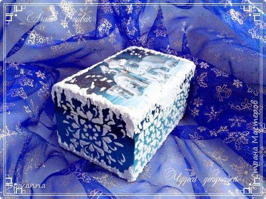 Декор предметов Мастер-класс Новый год Декупаж МАСТЕР-КЛАСС ШКАТУЛКА «ВОЛШЕБНАЯ ЗИМА» Дерево фото 1