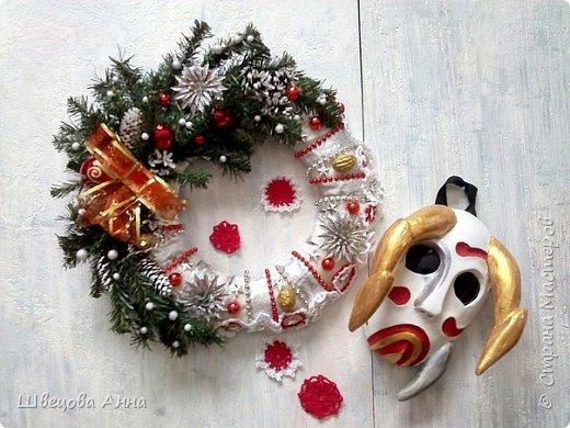 """Венок """"Новогодняя сказка"""" фото 3"""