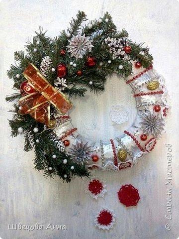 """Венок """"Новогодняя сказка"""" фото 1"""