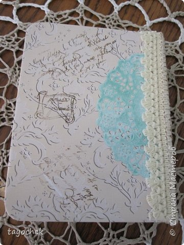 """Всем привет! Сделала миник по МК Светланы Лисициной.У нее был зимний, а у меня был набор бумаги """"Версаль""""- это и определило тему. Я исходила из своих возможностей и материалов, обложка у меня не тканевая, а бумажная, но ткани по теме найти не смогла, а бумага вписалась на мой взгляд. фото 19"""