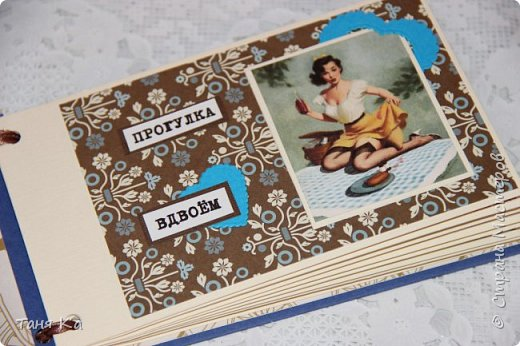 Всем привет! Сделала свою первую чековую книжку желаний) На картинках девушки пин-ап. Книжка в коробочке. Всего в ней 10 желаний. фото 3