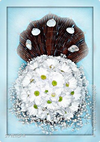 ракушка из живых цветов