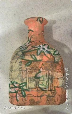 Декор предметов Мастер-класс Новый год Лепка Папье-маше Избушка бабы Яги Бумага Клей Краска Салфетки фото 3