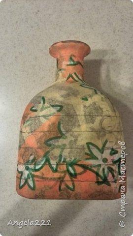 Декор предметов Мастер-класс Новый год Лепка Папье-маше Избушка бабы Яги Бумага Клей Краска Салфетки фото 4