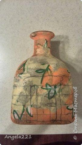 Декор предметов Мастер-класс Новый год Лепка Папье-маше Избушка бабы Яги Бумага Клей Краска Салфетки фото 5