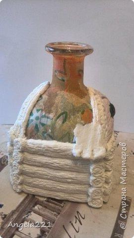 Декор предметов Мастер-класс Новый год Лепка Папье-маше Избушка бабы Яги Бумага Клей Краска Салфетки фото 23
