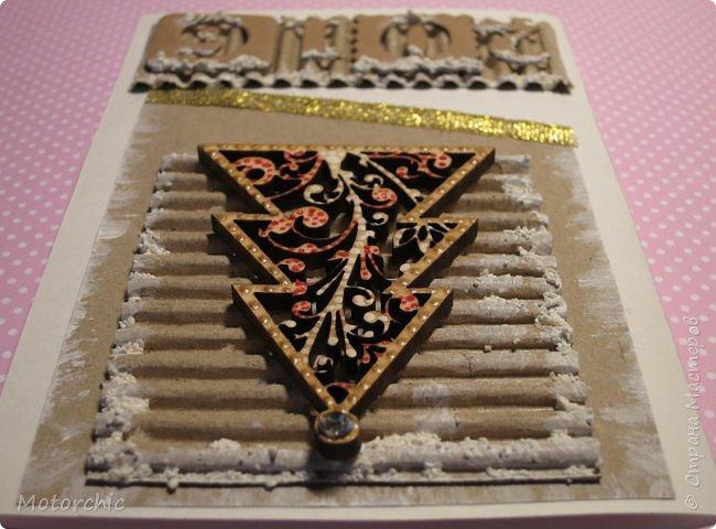 """Сегодня пошел снег. Первый. И хотя я его """"шаманила"""" при помощи новогодних подвесок со снеговиками и падающим снегом, подстраховаться вчера решила еще и новогодними открытками со снегом =) фото 4"""
