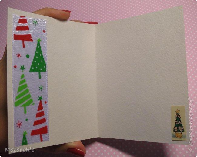 """Сегодня пошел снег. Первый. И хотя я его """"шаманила"""" при помощи новогодних подвесок со снеговиками и падающим снегом, подстраховаться вчера решила еще и новогодними открытками со снегом =) фото 12"""