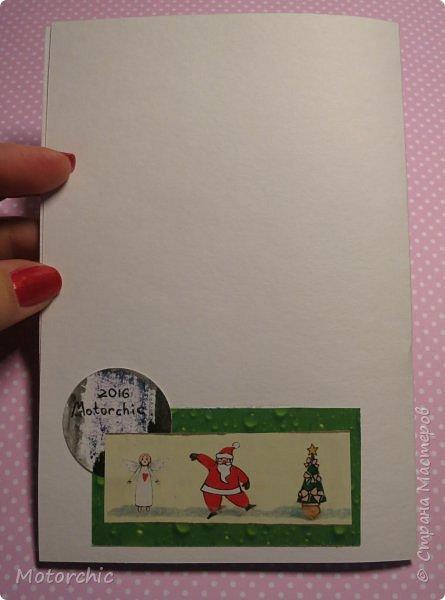 """Сегодня пошел снег. Первый. И хотя я его """"шаманила"""" при помощи новогодних подвесок со снеговиками и падающим снегом, подстраховаться вчера решила еще и новогодними открытками со снегом =) фото 9"""