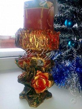До нового года осталось два дня , а подсвечник так и не готов. Решила что все таки доделаю его чтобы поставить на стол для свечи. фото 5