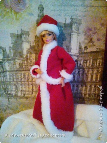 """Всем привет! Сегодня мы сдаем работу на конкурс """"Новый год раз в году """". Я сшила костюм снегурочки.  фото 2"""