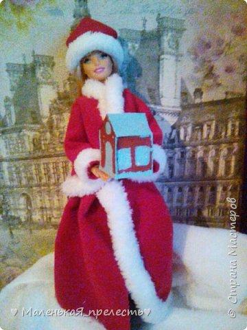 """Всем привет! Сегодня мы сдаем работу на конкурс """"Новый год раз в году """". Я сшила костюм снегурочки.  фото 4"""