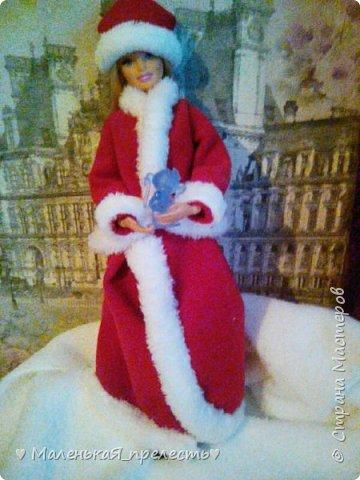 """Всем привет! Сегодня мы сдаем работу на конкурс """"Новый год раз в году """". Я сшила костюм снегурочки.  фото 5"""
