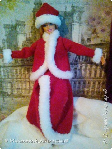 """Всем привет! Сегодня мы сдаем работу на конкурс """"Новый год раз в году """". Я сшила костюм снегурочки.  фото 6"""