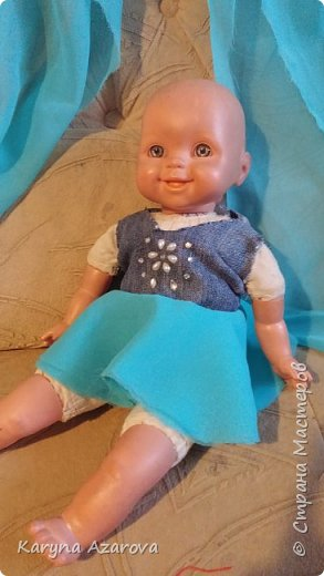 Здравствуйте! Вчера сшила сарафан для Вики.  фото 3